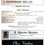 1960 program notes for Lilac Garden