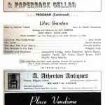 1960 program notes for Lilac Garden