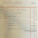 Steamer bill, Sweden, 1949